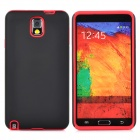 Protective Frosted PC + Silicone Back Case for Samsung Galaxy Note 3 - Black + Red