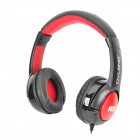 OVLENG A5 Stylish Stereo Headphones w/ Microphone for Iphone - Black + Red