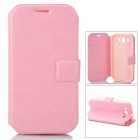 Protective Flip Open Case w/ Card Slot / Stand for Samsung S3 i9300 - Pink