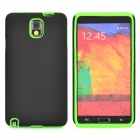 Protective Silicone + Matte PC Case for Samsung Galaxy Note 3 - Black + Green