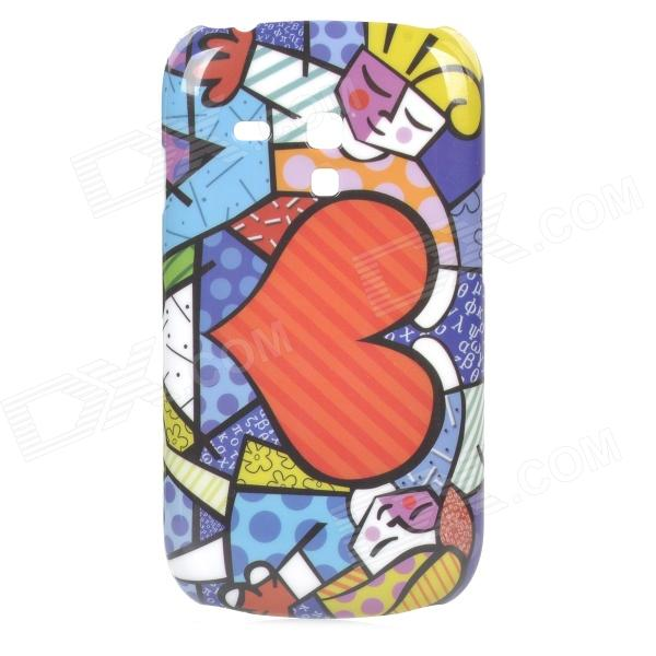 Cute Love Heart Style Protective Plastic Back Case for Samsung Galaxy S3 Mini i8190 - Multicolor