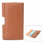 Protective Flip Open PU Leather Waist Case for Samsung Galaxy S4 i9500 - Brown
