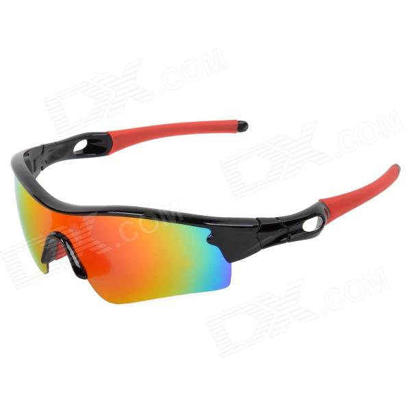 CARSHIRO 9183-3 UV400 Protection Outdoor Cycling Polarized Sunglasses for Men - Black + Red carshiro 9191 men s stylish uv400 polarized goggles sunglasses black red