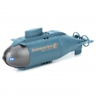 HappyCow 777-216 6-CH Wireless Controle Remoto Mini Toy Submarine - azul escuro