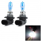 HOD 9005 100W 1850lm 3500K Warm White Light Car HID Headlamps - Blue + Black (2 PCS / 12V)
