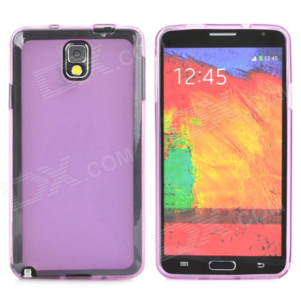 Protective TPU Case for Samsung Galaxy Note 3 - Translucent Purple metal ring holder combo phone bag luxury shockproof case for samsung galaxy note 8