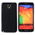 Protective TPU Back Case + Waterproof Bag for Samsung Note 3 - Black