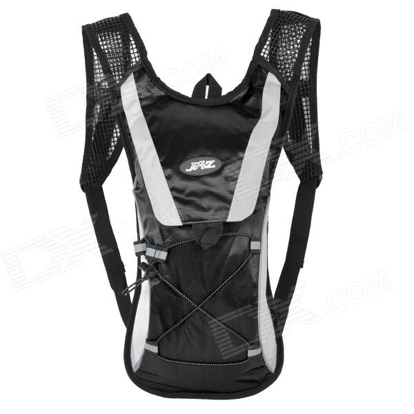 JSZ Super Light Ciclismo Nylon Backpack Bag - Black + Cinza