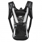 JSZ Super Light Cycling Sport Nylon Backpack Bag - Black + Grey
