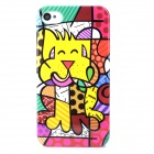 Graffiti Pattern Protective Plastic Back Case for Iphone 4 / 4S - Multicolored