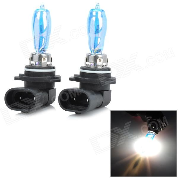 HOD 9006 100W 1900lm 3500K Warm White Light Car HID Headlamp - Blue + Silver (2 PCS / 12V)