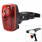 M-6001 Bicycle Safety 3-LED 3-Mode Red Light Rear Light - Red + Black