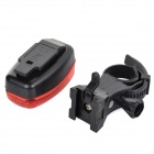 M-6001 Bicycle Safety 3-LED 2-Mode Red Light Rear Light - Red + Black