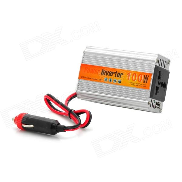 XIANG ZHI Y-DA100W 12V to AC 220V / USB 5V Car Power Inverter - Silver