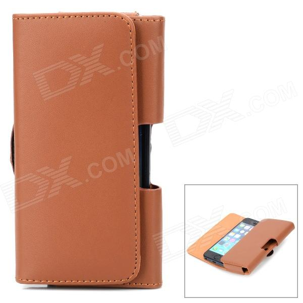 Protective PU Leather Waist Case for Iphone 5 / 5c / 5s - Brown ipega i5056 waterproof protective case for iphone 5 5s 5c orange yellow