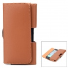 Protective PU Leather Waist Case for Iphone 5 / 5c / 5s - Brown