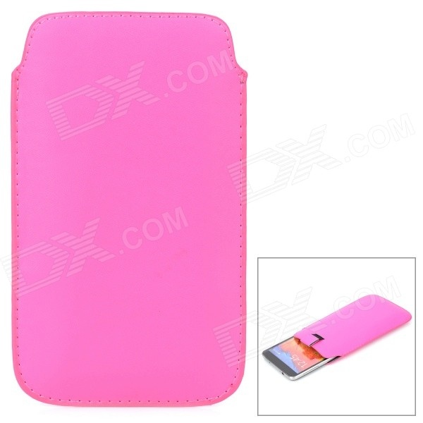 Protective PU Leather Bag for Samsung Galaxy Note 3 N9000 - Deep Pink metal ring holder combo phone bag luxury shockproof case for samsung galaxy note 8