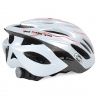 SMS S-141 Bicycle 24-Vent Helmet w/ Tail Light - Silver (Size L)
