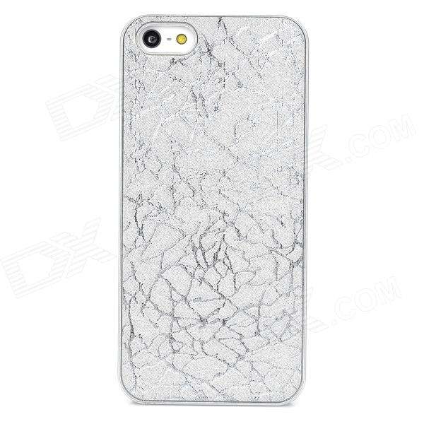 Protective Plastic Back Case for Iphone 5S / 5 - Silver