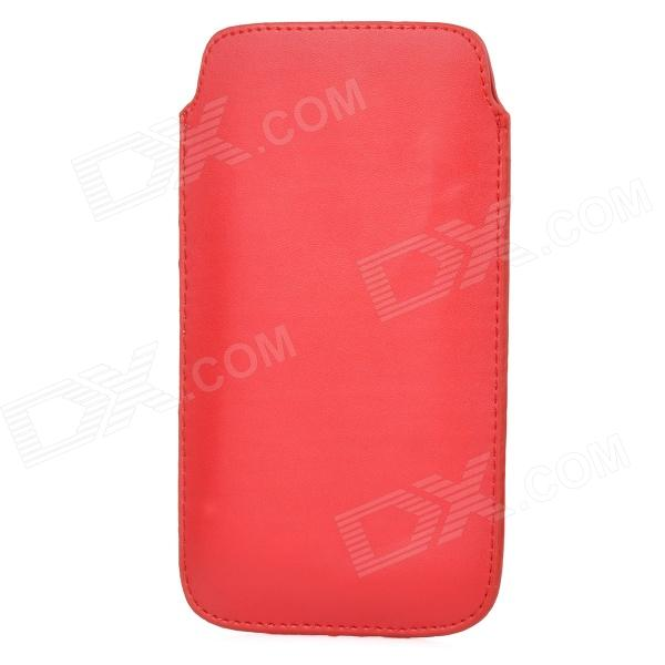 Protective PU Leather Pouch Case for Samsung Galaxy Note 3 N9000 - Red dual usb ac power charger adapter for iphone ipad white ac 100 240 eu plug