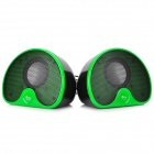 Jeway JS-6207 Stylish USB Powered 2-Channel Speakers Set for Computer - Green + Black