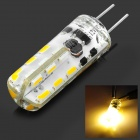 G4 1.5W 80lm 3500K 24-3014 SMD LED Warm White Light Clearance Lamp - Transparent + Yellow (12V)