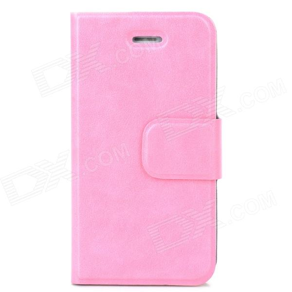 Protective Flip Open PU + TPU Case w/ Stand for Iphone 4 / 4S - Pink protective pu leather flip open case for iphone 4 4s black
