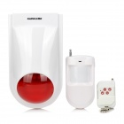 GANGQI PE-51 Home Infrared Site Alarm Device - White (2-Flat-Pin Plug)