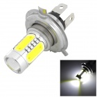 LY495 H4 6.5W 300lm 6000K 5-LED White Light Car Foglight - Silver + Yellow