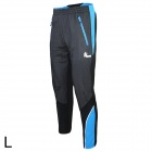 ARSUXEO AR13A Men's Cycling Windproof Warm Polyester Pants - Blue + Black (L)