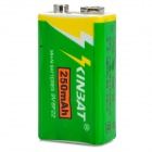 Rechargeable 9V 250mAh NiMH Batteries - Green + White