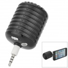 Microphone Style Rechargeable 3.5mm Plug Speaker for Iphone / Ipad - Black