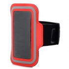Sport Protective Neoprene Armband Case for Samsung i9190 (Galaxy S4 Mini) - Red + Black