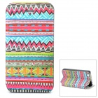 Tribal Ethnic Style Protective Flip Open Case for Iphone 4 / 4S - Multicolored