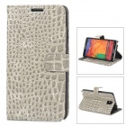 Crocodile Grain Protective PU Leather Case for Samsung Galaxy Note 3 N9000 - Grey