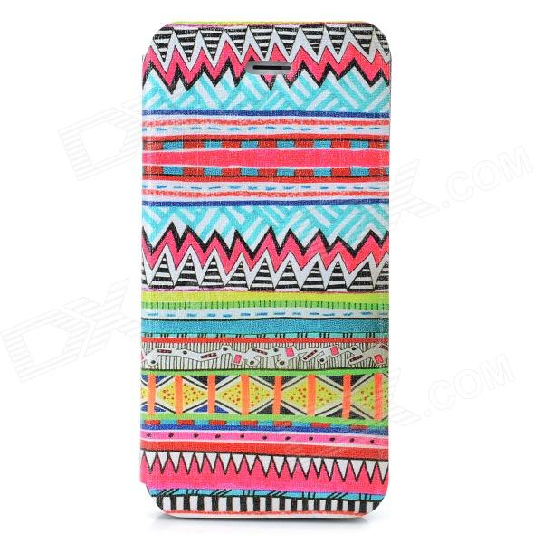 Tribal Ethnic Style Protective Flip Open Case w/ Stand for Iphone 5 - Multicolored - DXLeather Cases<br>Brand N/A Quantity 1 Piece Color Multicolored Material PU Leather + PC Compatible Models Iphone 5 Auto Wake-up / Sleep NO Other Features Protects your device from dust scratches and shock Packing List 1 x Case<br>