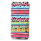 Tribal Ethnic Style Protective Flip Open Case w/ Stand for Iphone 5 - Multicolored