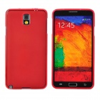 Protective Silicone Back Case for Samsung Note 3 - Red