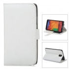 Stylish Protective PU Leather Case for Samsung Galaxy Note 3 - White