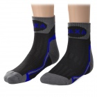 CAXA Outdoor Mountaineering Quick-drying Polyester + Spandex Socks for Men - Grey + Black (Pair)