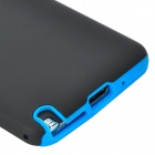 2-in-1 Protective Silicone + PC Back Case for Samsung Note 3 - Black + Blue