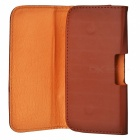 Protective Waist Belt Hanging PU Leather Case for Samsung Galaxy S3 i9300 - Brown