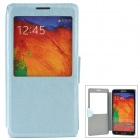 Protective Flip Open Case w/ Stand / Display Window for Samsung Note 3 - Blue
