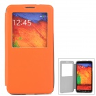 Protective PU Leather Case for Samsung Galaxy Note 3 N9000 - Orange