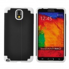 2-in-1 Protective Silicone Back Case for Samsung Galaxy Note 3 - Black + White