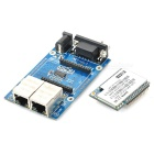 Uart Serial Port to Ethernet / Wi-Fi Converting Test Board Module + RT5350F Module - Blue