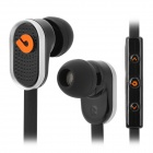 BIDENUO G780 Universal In-ear Earphone for Smart Phones - Black + Silver + Orange