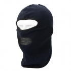 QINGLONGLIN BJ-001 Outdoor Windproof  Breathable Thicken Fleece Mask Helmet Cap - Deep Blue