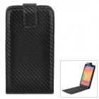 Stylish Up-Down Flip-Open PU + Plastic Case for Samsung Galaxy Note 3 / N9000 / N9005 - Black