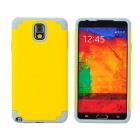 2-in-1 Protective Silicone Back Case for Samsung Galaxy Note 3 - Grey + Yellow
